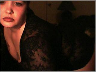 Femme nue à la webcam